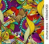 seamless vector pattern... | Shutterstock .eps vector #458606920