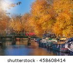 one of the numerous amsterdam... | Shutterstock . vector #458608414