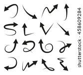 arrows icons set | Shutterstock .eps vector #458609284