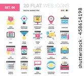 vector set of digital marketing ... | Shutterstock .eps vector #458614198