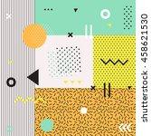 retro style texture  pattern... | Shutterstock . vector #458621530