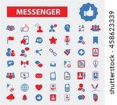 messenger icons   Shutterstock .eps vector #458623339