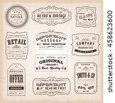 vintage and old fashioned... | Shutterstock .eps vector #458623600