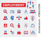 employment icons | Shutterstock .eps vector #458624386