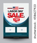 labor day sale poster template. ... | Shutterstock .eps vector #458627923