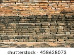very old ancient brick wall on... | Shutterstock . vector #458628073