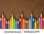 colored pencils  are zigzag on... | Shutterstock . vector #458633299