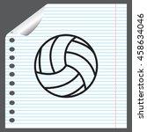 volleyball ball | Shutterstock .eps vector #458634046