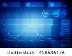 2d illustration business graph | Shutterstock . vector #458636176