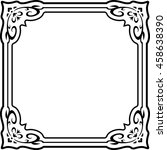 frame border beautiful vector... | Shutterstock .eps vector #458638390