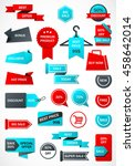 vector stickers  price tag ... | Shutterstock .eps vector #458642014