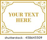 frame border beautiful vector... | Shutterstock .eps vector #458645509