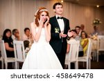 groom is applaud on the wedding ... | Shutterstock . vector #458649478