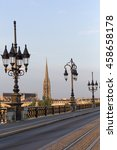 Small photo of Pont de Pierre Bridge over Gironde River Bordeaux, France