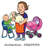 children vector illustration of ... | Shutterstock .eps vector #458659594