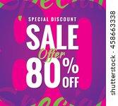 special discount sale 80... | Shutterstock .eps vector #458663338