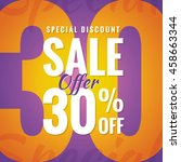 special discount sale 30... | Shutterstock .eps vector #458663344