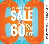 special discount sale 60... | Shutterstock .eps vector #458663374