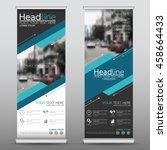 blue technology roll up... | Shutterstock .eps vector #458664433