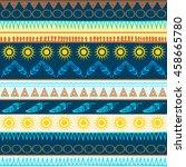 seamless vector pattern.... | Shutterstock .eps vector #458665780