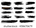 set of grunge brush strokes.... | Shutterstock .eps vector #458670679