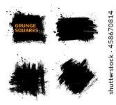 set of grunge squares. hand... | Shutterstock .eps vector #458670814