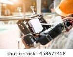 fiber optic  technicians are... | Shutterstock . vector #458672458