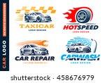 collection of logos car  taxi... | Shutterstock .eps vector #458676979