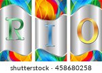 rio vector color background ... | Shutterstock .eps vector #458680258