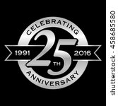 celebrating 25th years... | Shutterstock .eps vector #458685580