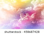 colourful dreamy big puffy... | Shutterstock . vector #458687428