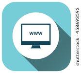 website icon on desktop  vector ...