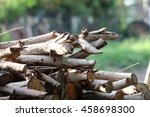 Small photo of Use pieces of wood as kindling.
