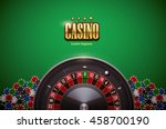 casino roulette wheel with... | Shutterstock .eps vector #458700190