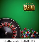 casino roulette wheel with... | Shutterstock .eps vector #458700199