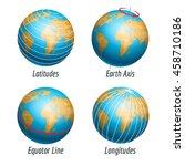latitude and longitude of the... | Shutterstock .eps vector #458710186