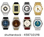 vector hand watches on white...   Shutterstock .eps vector #458710198