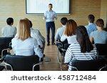 listening to teacher | Shutterstock . vector #458712484