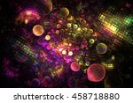 Abstract Rainbow Bubbles And...