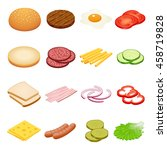 ingredients for burgers and...   Shutterstock . vector #458719828