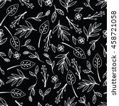 little flowers line art graphic ... | Shutterstock .eps vector #458721058