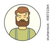 fatigue linear icon. sweat man...   Shutterstock .eps vector #458721364