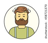 dizziness man line style icon.    Shutterstock .eps vector #458721370
