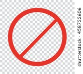 not allowed sign | Shutterstock .eps vector #458722606