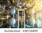 industrial oil and gas zone... | Shutterstock . vector #458726890