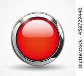 red brilliant round web button  ... | Shutterstock .eps vector #458729440