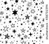 seamless pattern with handdrawn ... | Shutterstock .eps vector #458731594