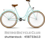 the old blue classic bicycle.... | Shutterstock .eps vector #458733613