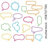 blank empty speech bubbles for... | Shutterstock .eps vector #458737783