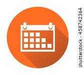 calendar icon on orange round...